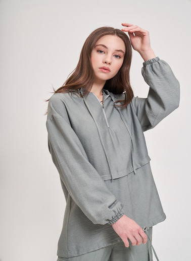 Mizalle Youth Sweatshirt Yeşil
